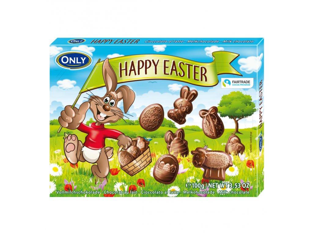 Only Happy Easter Dárkové balení mléčné čokoládové figurky 100g