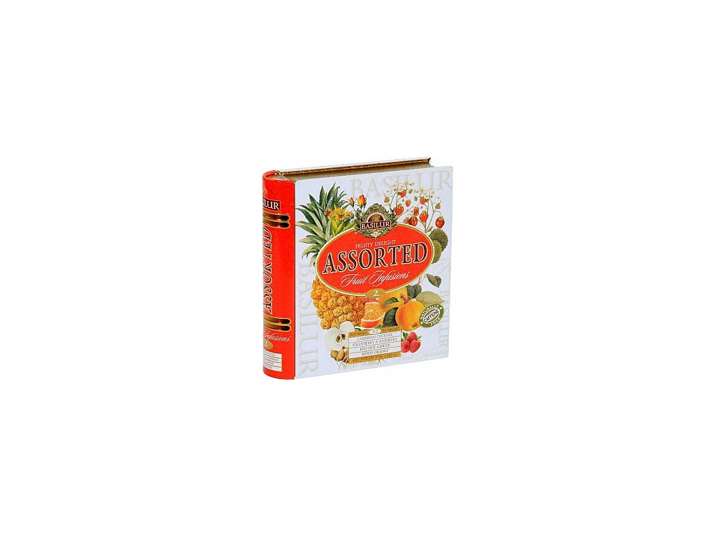 Basilur Fruit Infusions Book Fruity Delight plech 32x1,8g