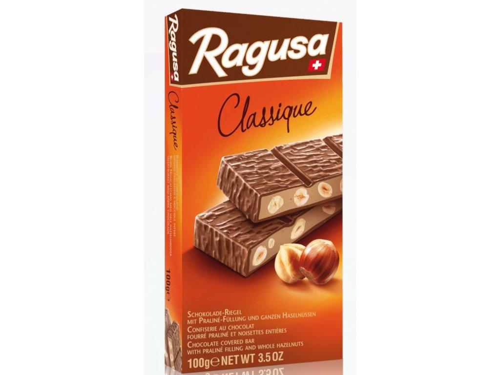 Mléčná čokoláda Ragusa s ořechami a nugátem 100g