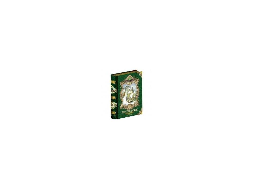 Basilur kniha Winter Green Zelený sypaný čaj s příchutí 100g