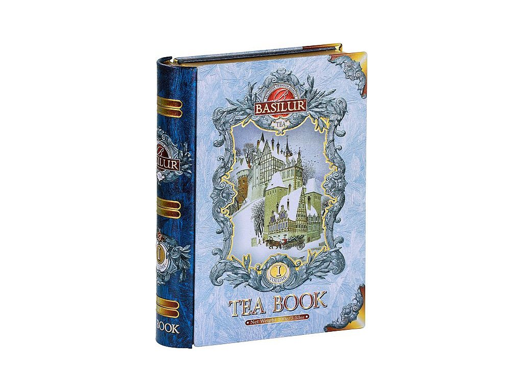 Basilur Kniha blue sypaný černý čaj s příchutí 100g