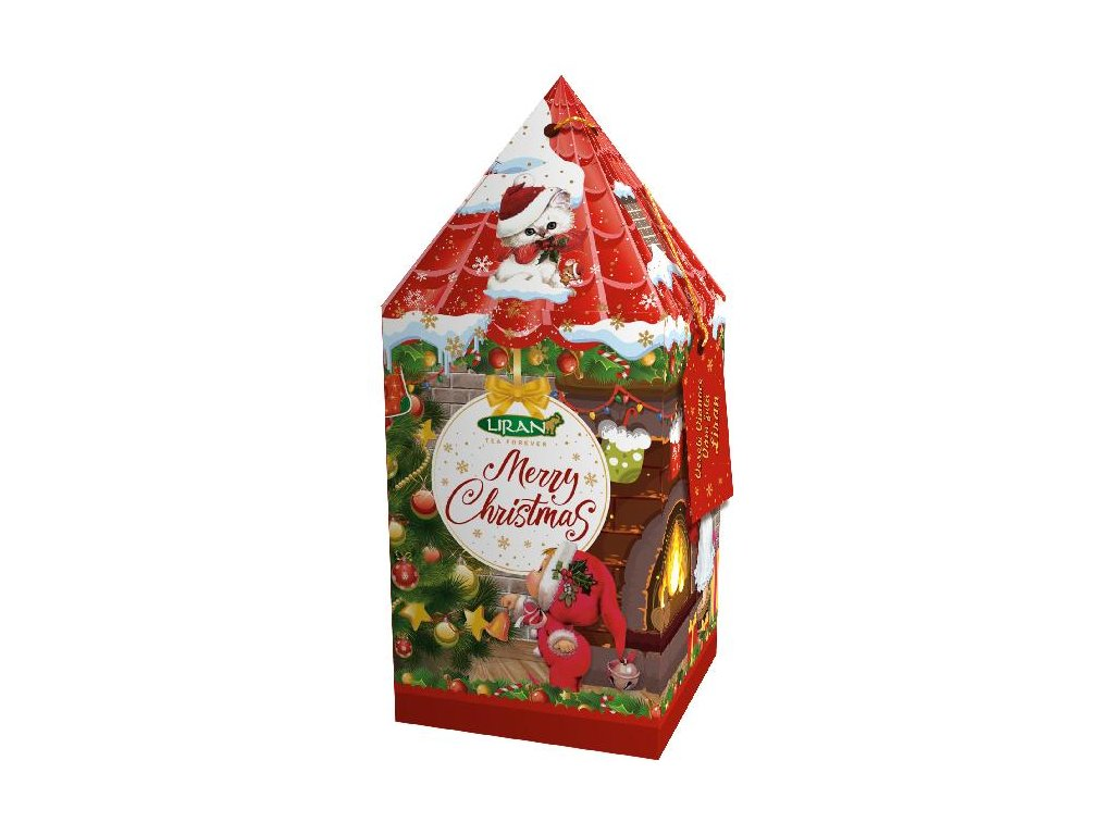 Liran Čajový červený domeček Merry Christmas 20x2g