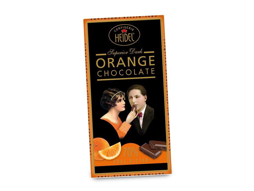 Heidel čokoláda hořká 70% pomeranč 100g