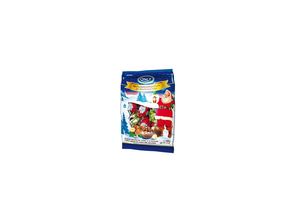 Only Pralinky z mléčné čokolády s krémovou lískoořechovou náplní a ceráliemi 400g