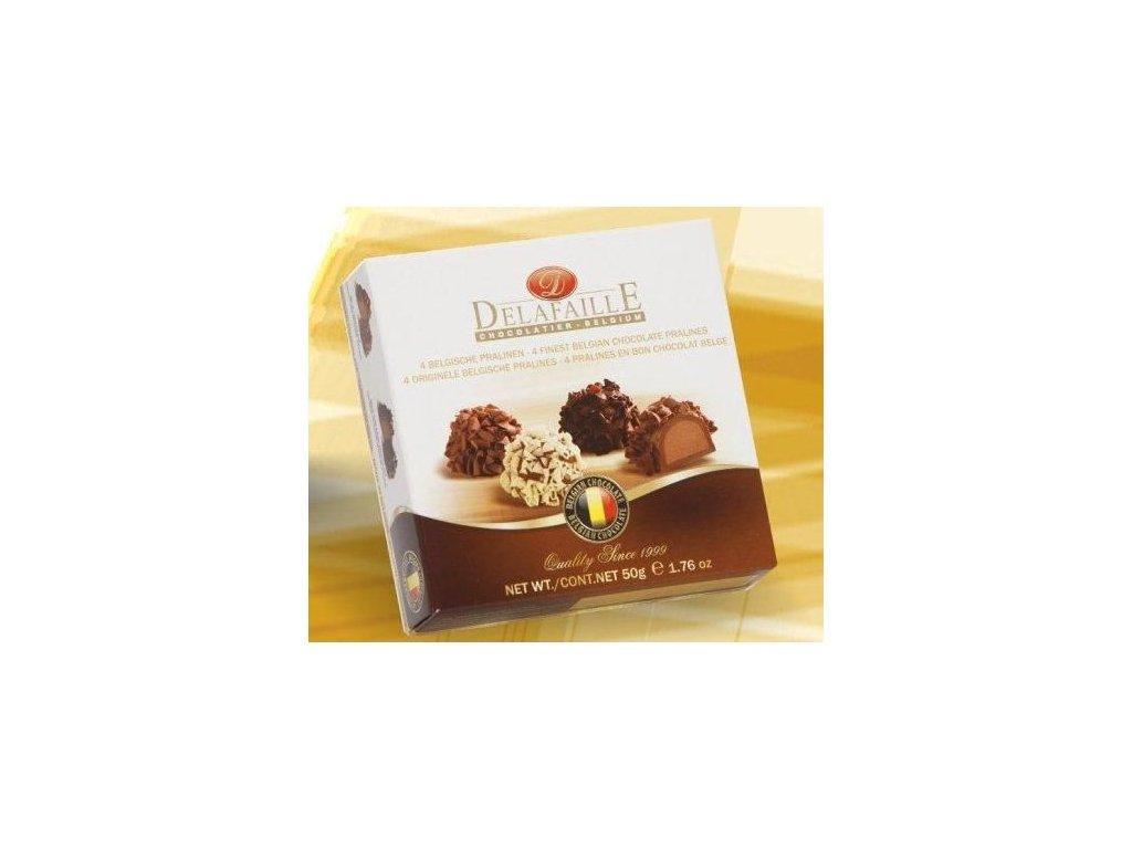 Delafaille Curlettes Čokoládové pralinky sypané čokoládou 50g