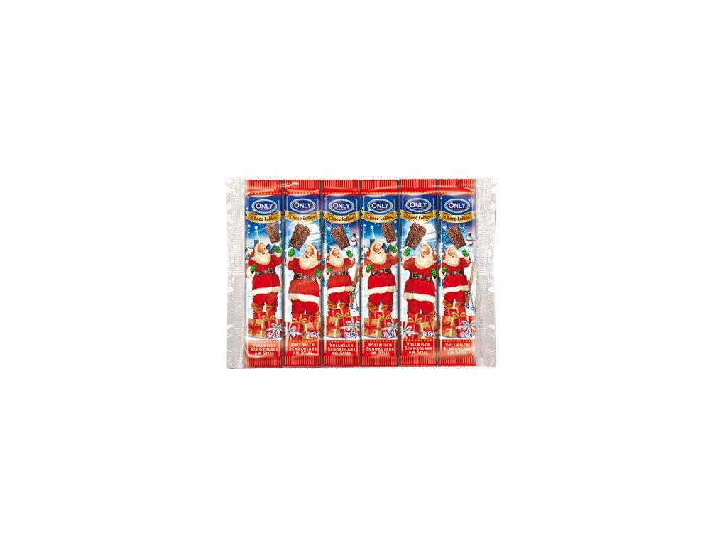 Only čokoládové lízátko Santa 6x15g