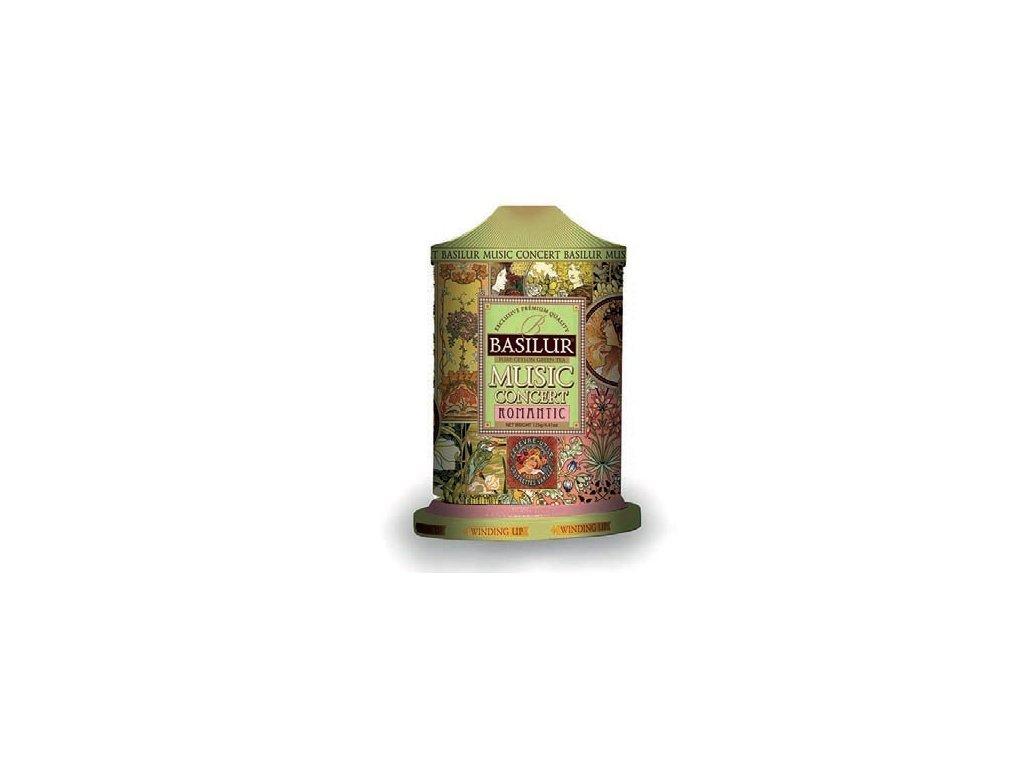 Basilur Romantic hrací plech Zelený čaj 100g