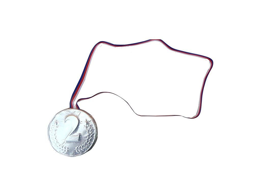 Stříbrná Čokoládová medaile '2' 40g