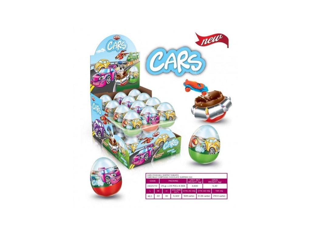 Čokoládové vajíčko Cars s překvapením 25g