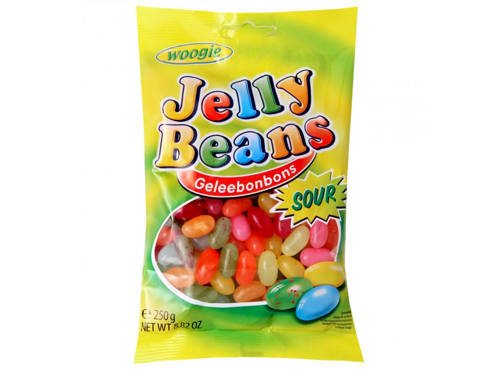 Jelly Beans Ovocné želatinové kyselé bonbóny 250g