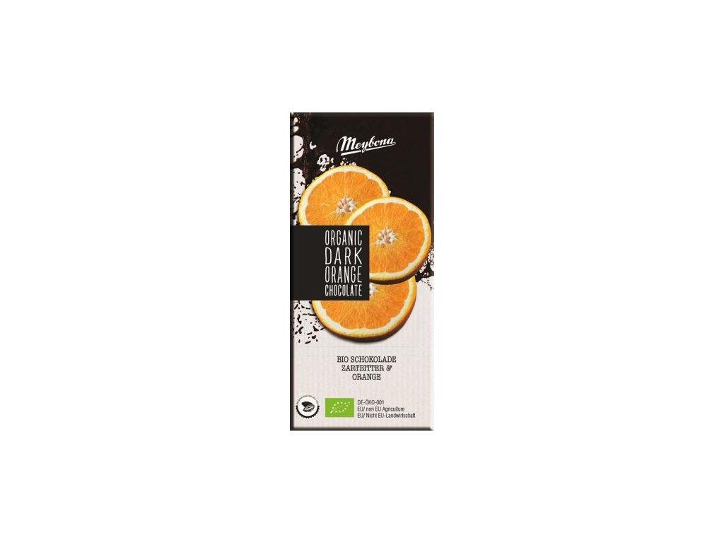 Meybona Bio Hořká čokoláda s kousky pomeranče 100g