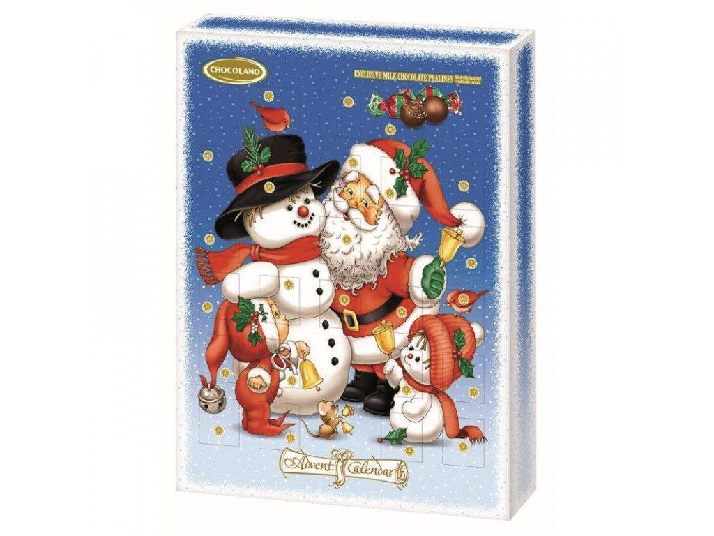 Chocoland Exklusivní adventní kalendář Santa a sáně 300g