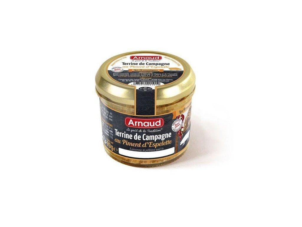 Arnaud Farmářská terina s pálivou paprikou Espelette 90g