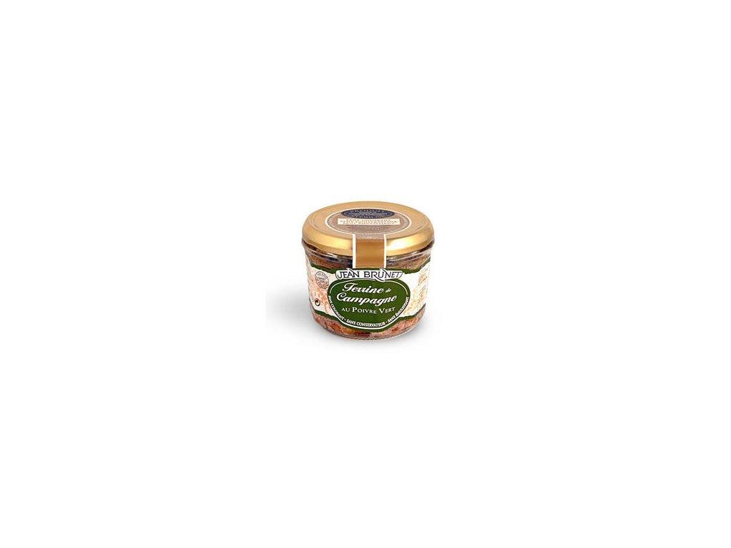 Jean Brunet Farmářšká terina se zeleným pepřem 180g