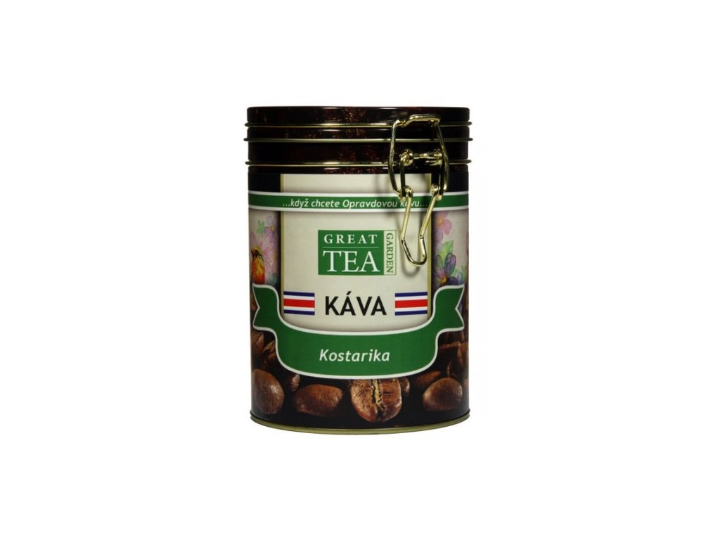 Great Garden Tea mletá káva v dóze Kostarika 200g