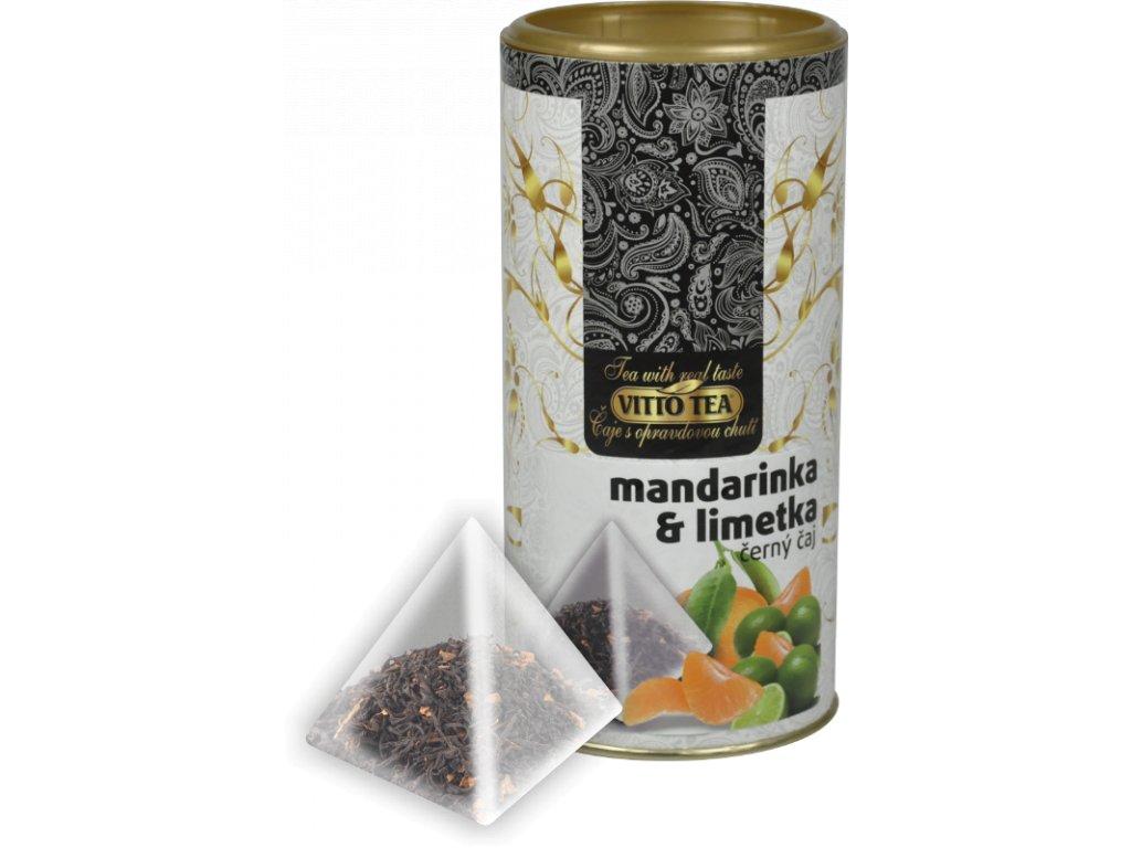 Vitto Tea Černý čaj Mandarinka, limetka 15 x 1,5g