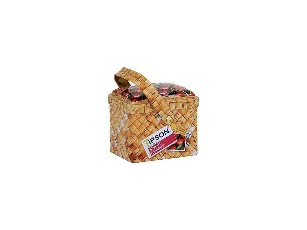 TIPSON Basket Sweet Cherry plechový košíček 80g
