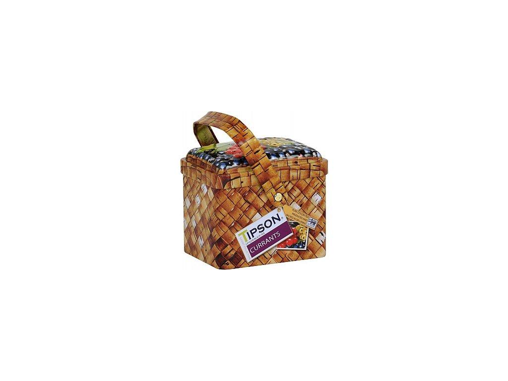 Černý čaj TIPSON Basket Currants plechový košíček 80g