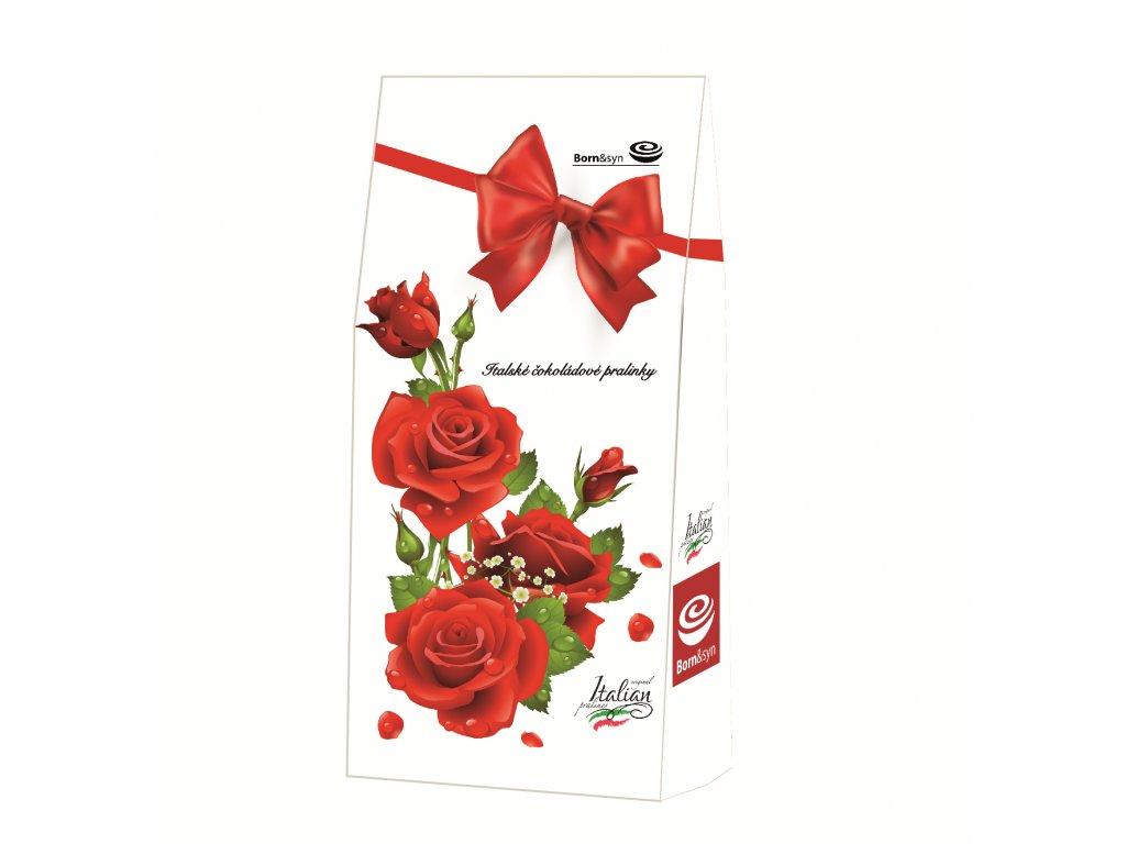 Born & syn čokoládové pralinky motiv Červená růže 100g