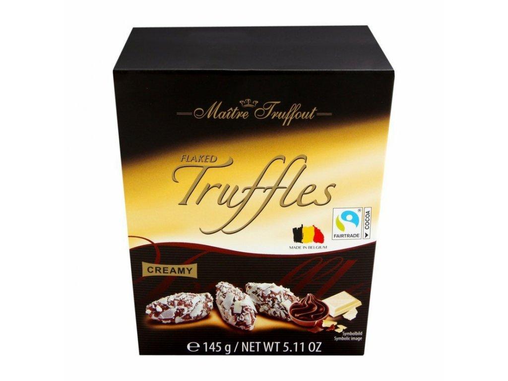 Maitre Truffout Bílo mléčné truffle 145g New design