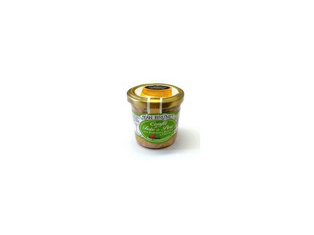 Confit z vepřových jater s paprikou a olivami 90g