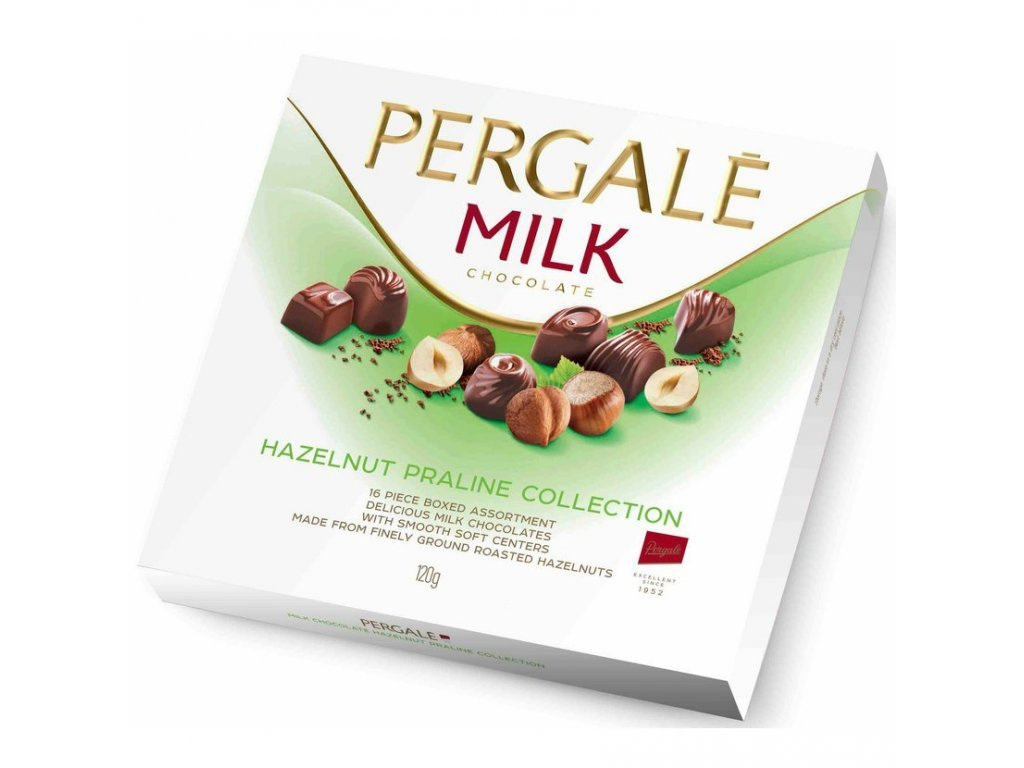 Pergale milk HAZELNUT PRALINE COLLECTION 120g