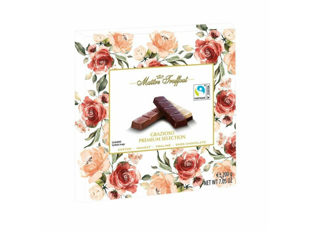 Maitre Truffout Grazioso Premium Selection motiv růže 200g