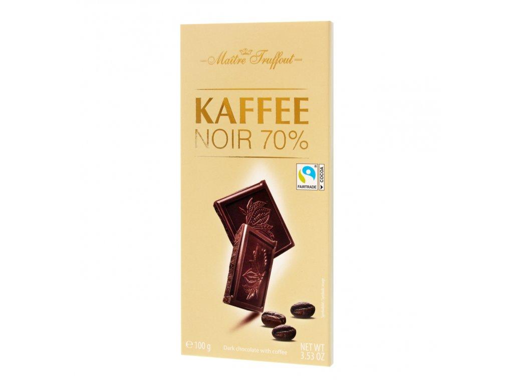 Maitre Truffout Víceprocentní hořká čokoláda 70% s kávou 100g