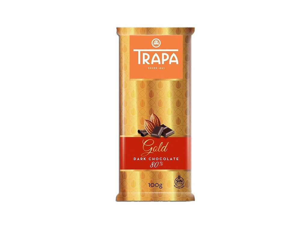 Trapa Gold Hořká čokoláda 80% 100g