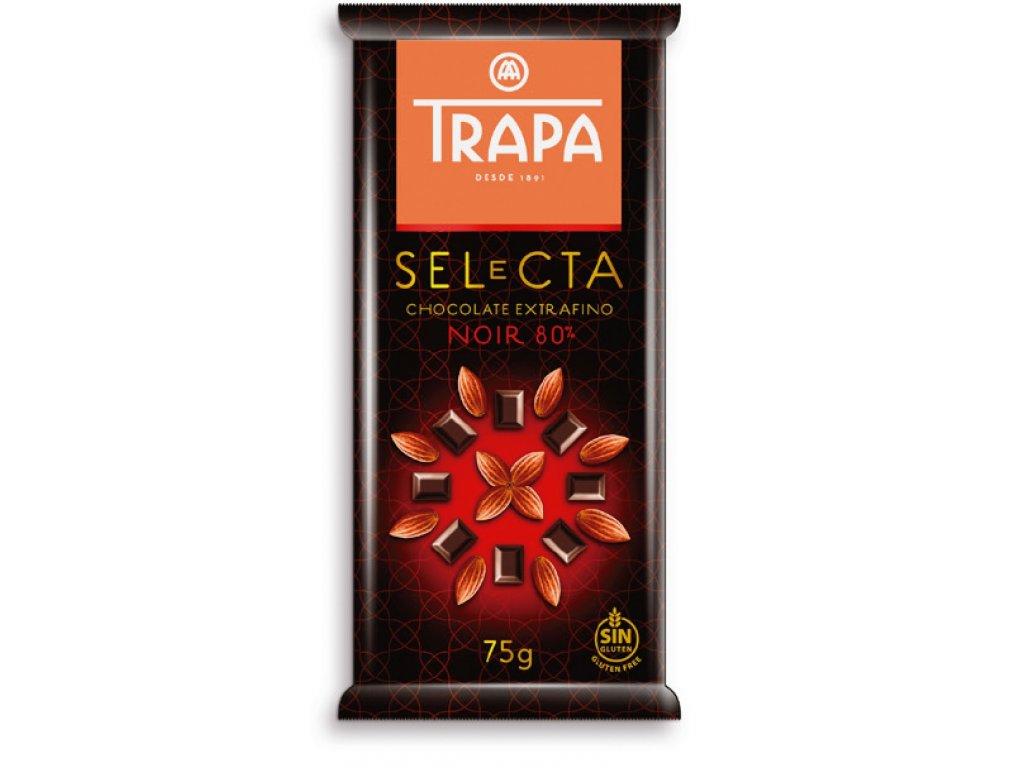 Trapa Selecta Hořká čokoláda 80% 75g