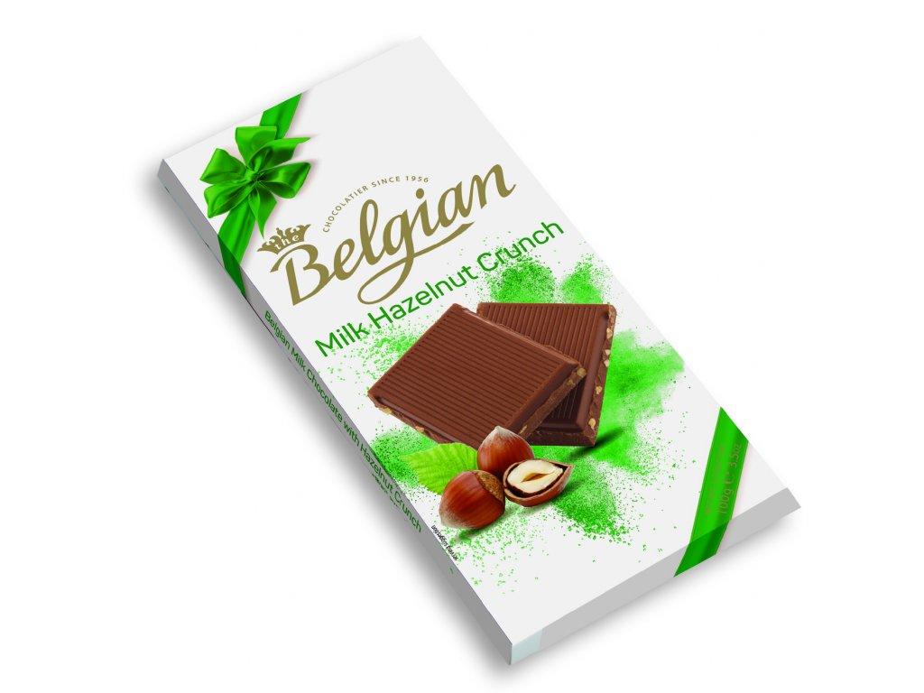 Belgian Mléčná čokoláda křupavé oříšky 100g