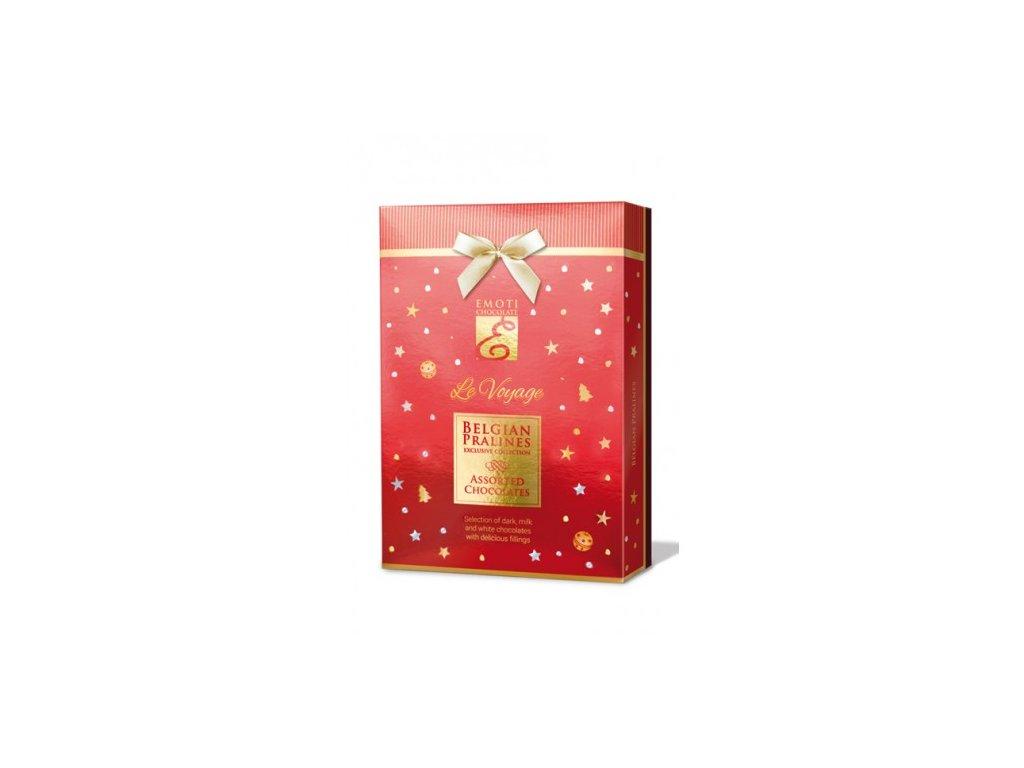 Emoti Le Voyage Směs pralinek s náplní 120g červený obal Vánoce