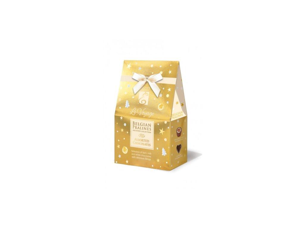 Emoti Le Voyage Směs pralinek zlatá vánoční stříška 75g