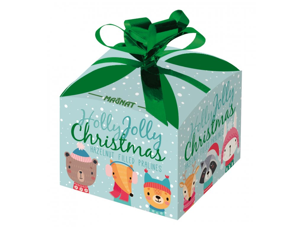 Magnat Pralinky s lískooříškovou náplní vánoční dárková krabička 40g