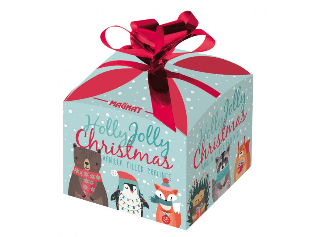 Vánoční dárková krabička vanilková náplň 40g