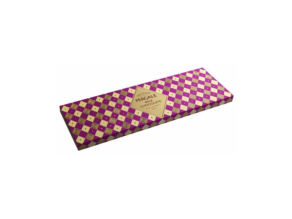 Pergale Holidays Mléčná čokoláda s brusinkami 220g