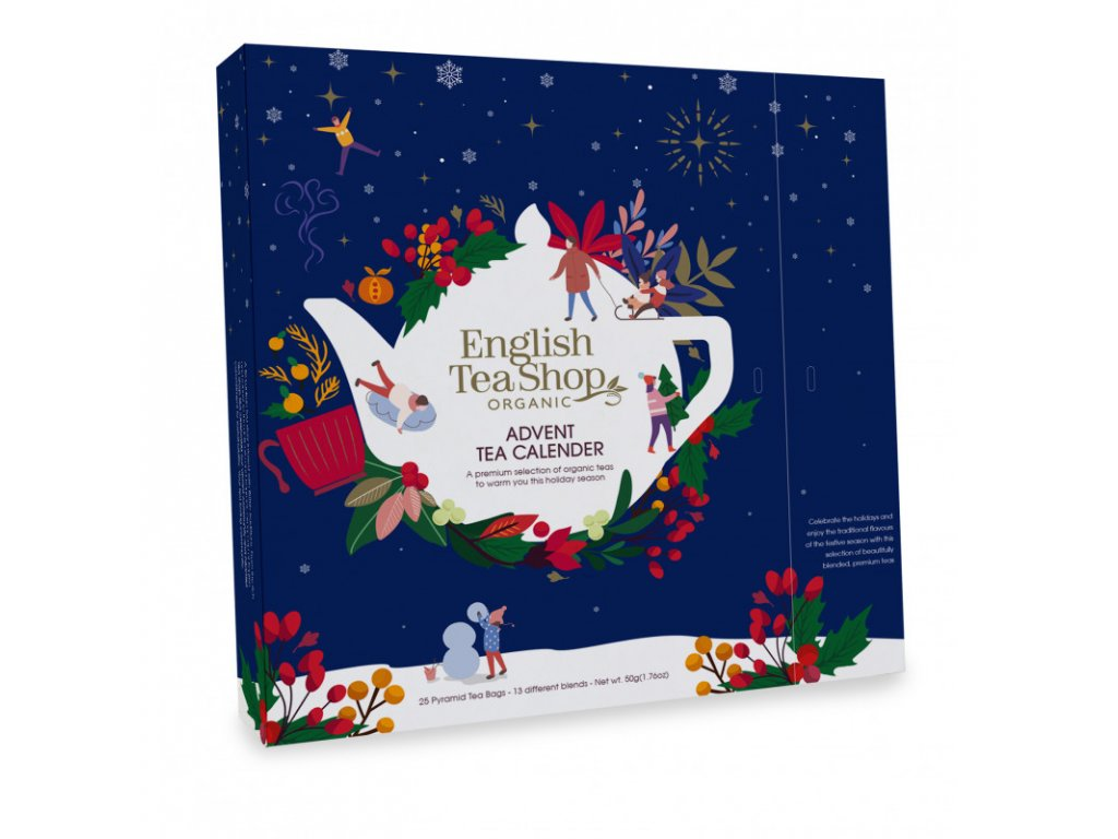 English Tea Shop25 pyramidek Adventní kalendář vánoční noc bio