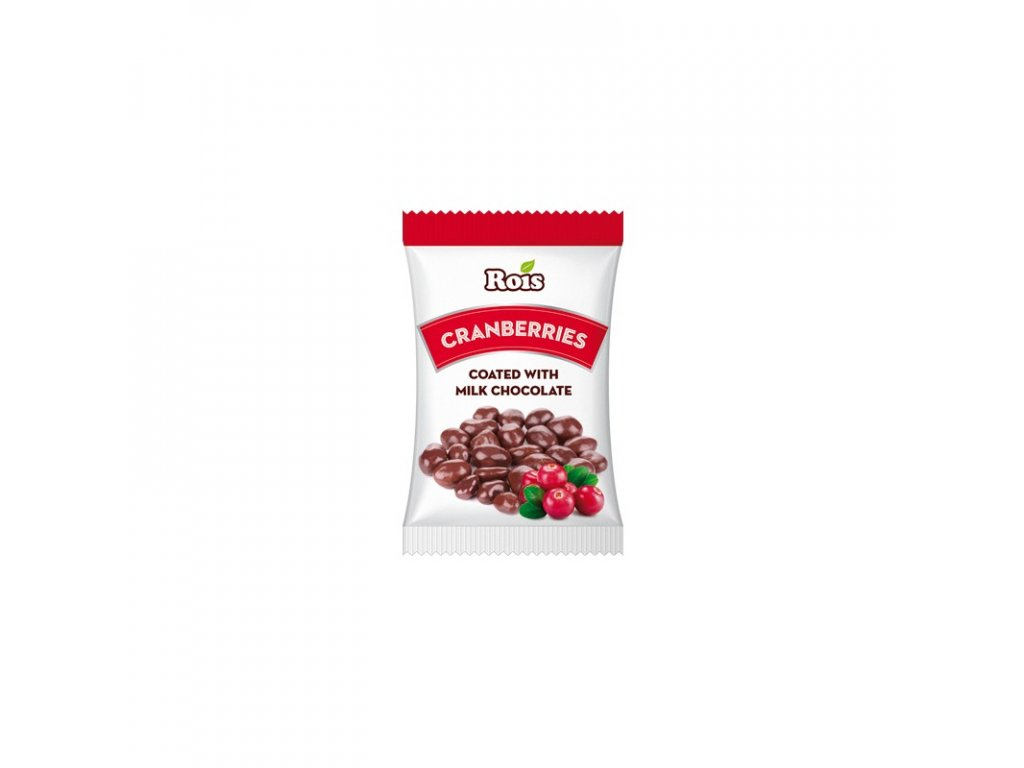 Rois Cranberries Milk chocolate Brusinky v mléčné čokoládě 80g