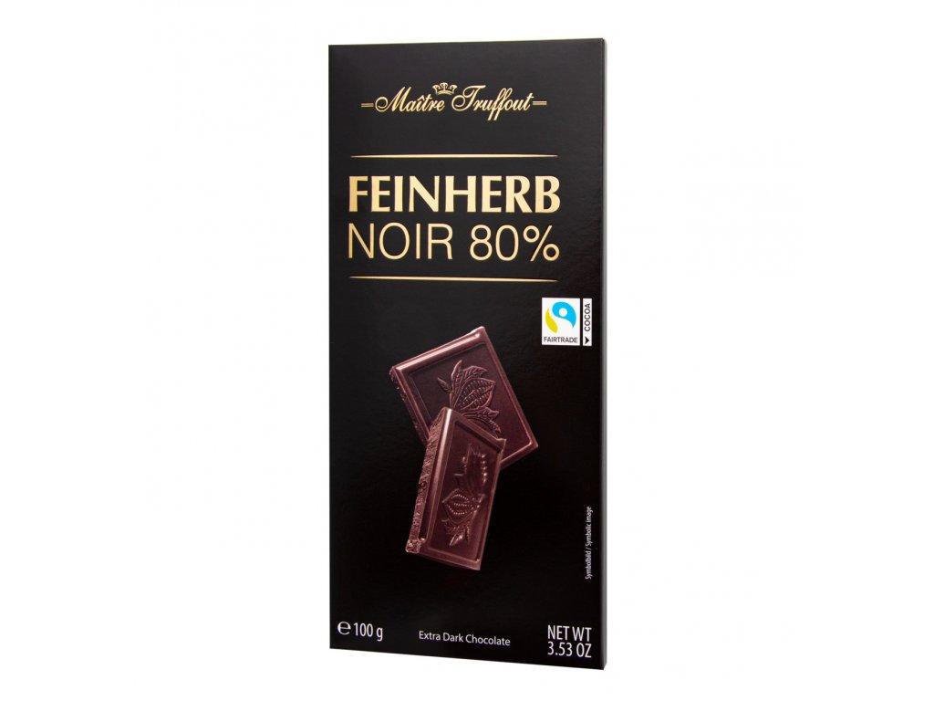Maitre Truffout Extra hořká čokoláda 80% 100g