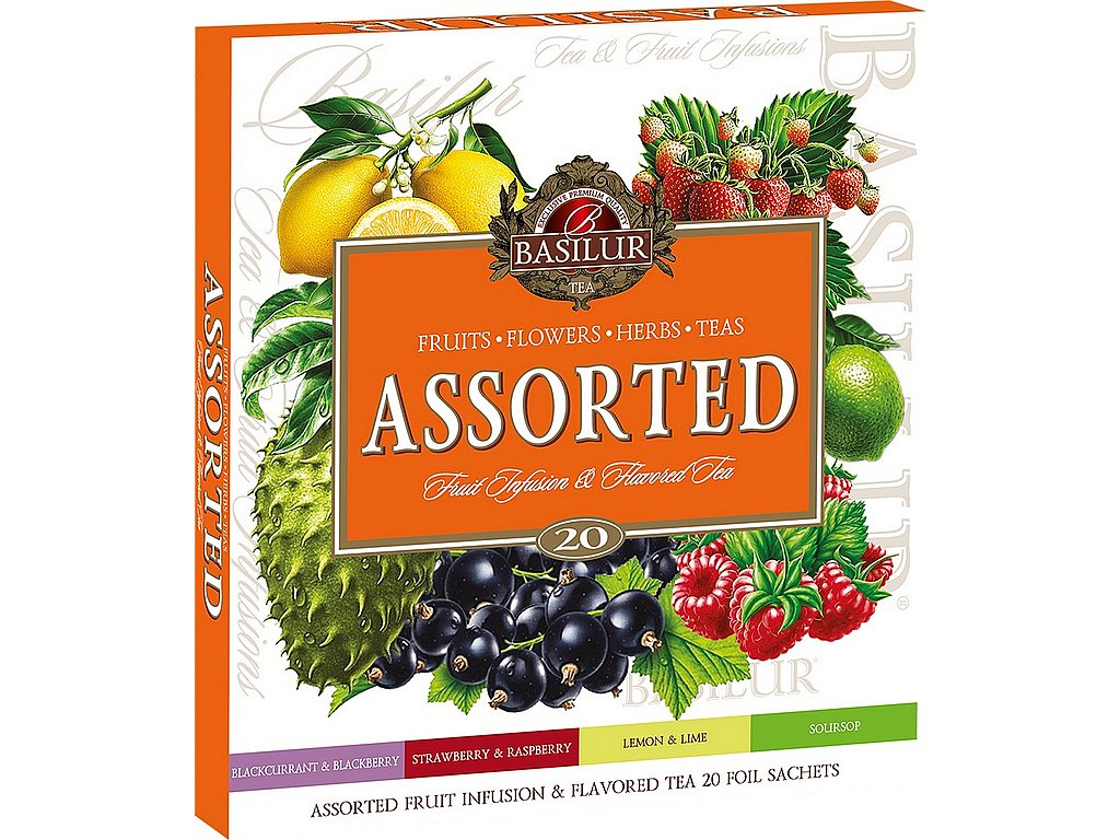 Basilur Assorted Fruit & Flavoured Tea přebal 20 gastro sáčků