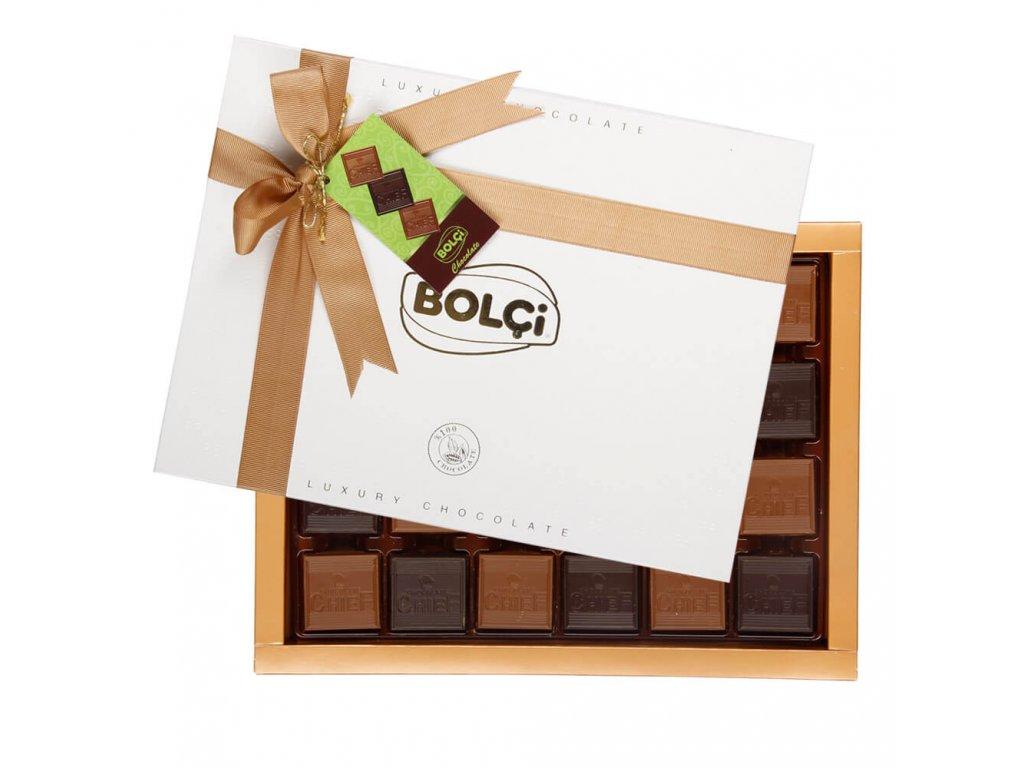 Bolci Madlen Luxusní bonboniéra hořká, mléčná čokoláda 624g