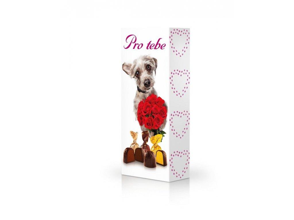 Čokoládové plněné pralinky v dárkovém balení Pro Tebe 90g