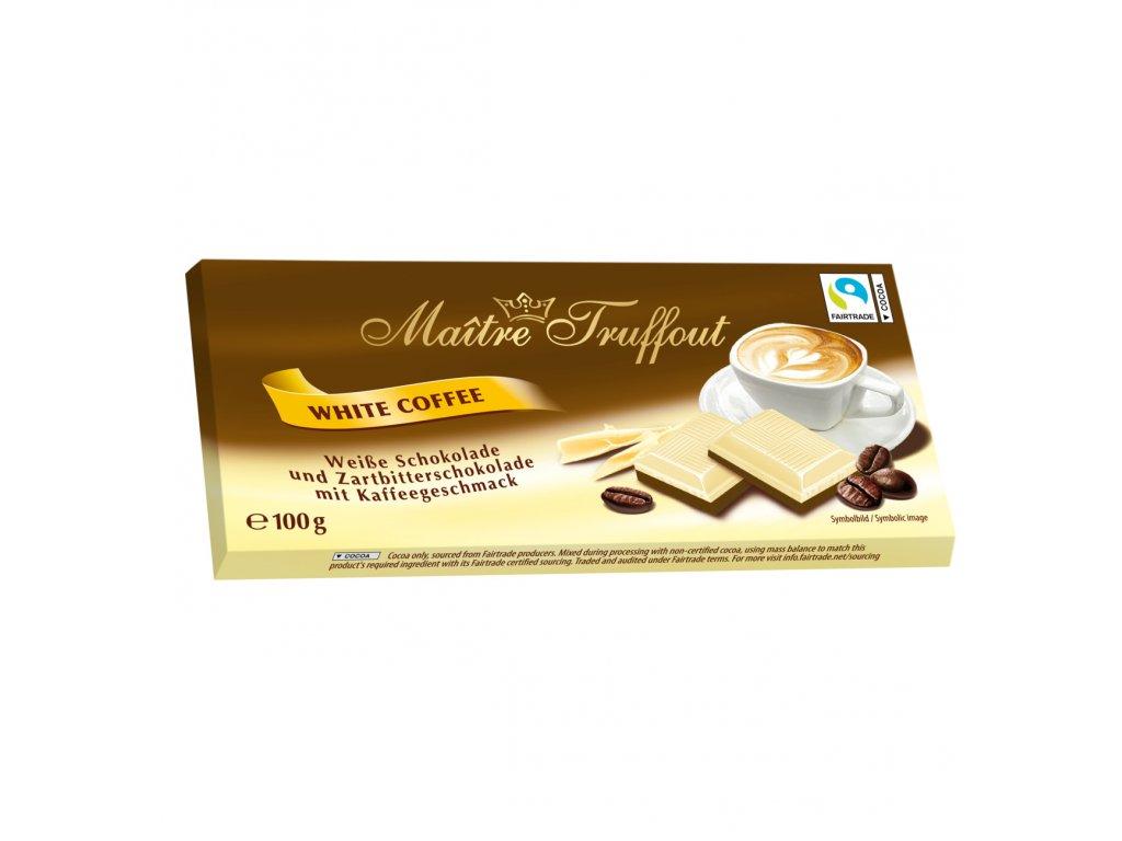 Maitre Truffout Bílá a hořká čokoláda s kávovou příchutí 100g