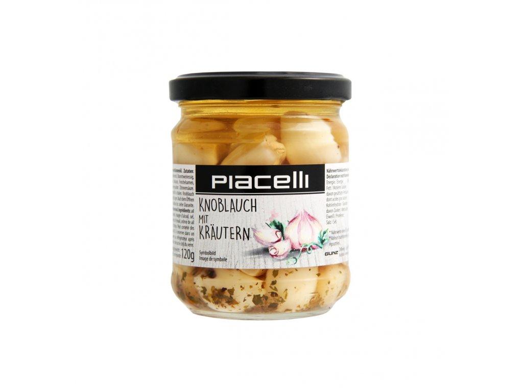 Piacelli Česnek s bylinkami ve slunečnicovém oleji 120g
