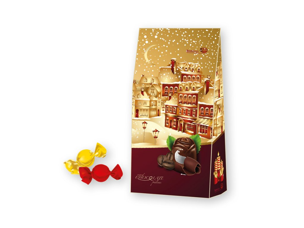 Born Syn Vánoční stříška prémium hořká čokoláda 94,5g