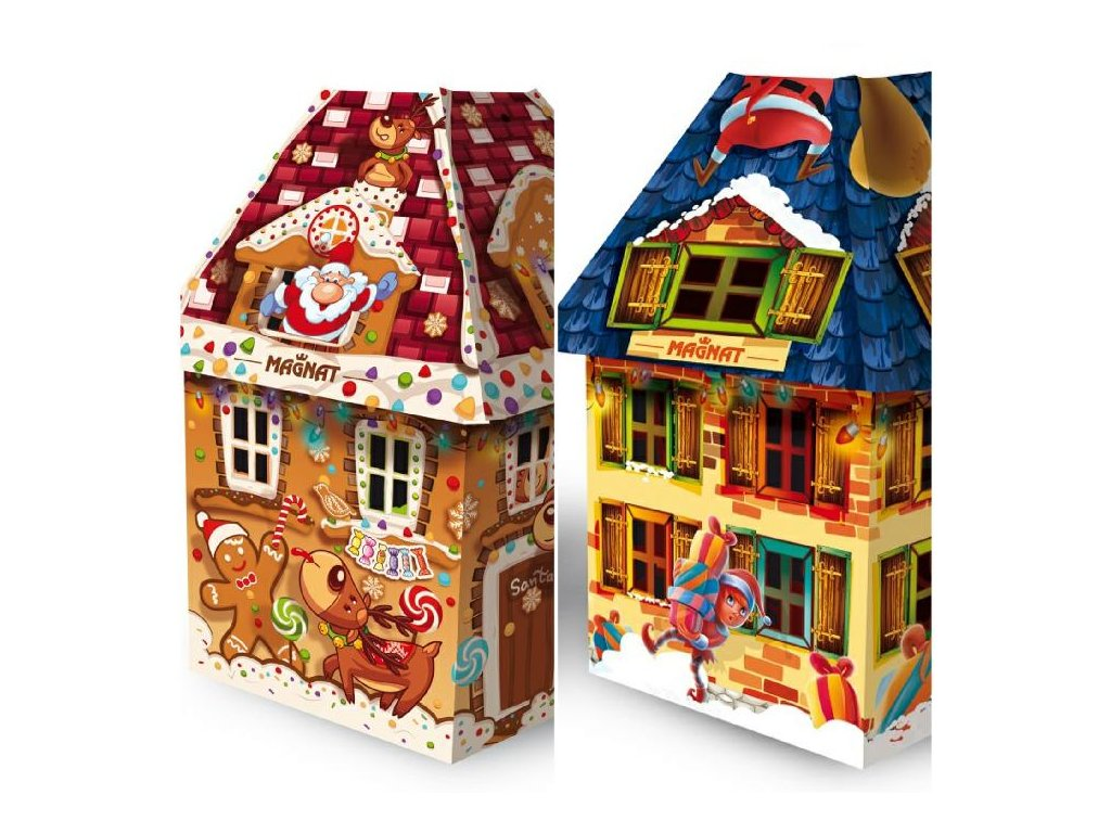 Vánoční lucerna motiv Perníčky,Dárečky Želé s příchutí v čokoládě 100g