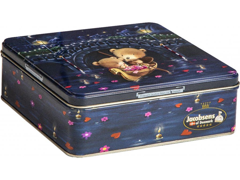 Jacobsen Bakery Máslové sušenky Sweet Teddies plechová dóza 120g