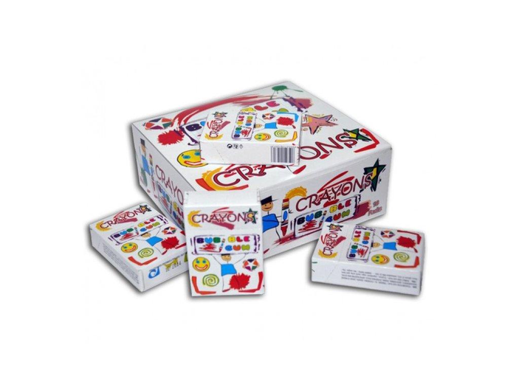 Žvýkačky Crayons bubble gum 3,5gx10ks display 18ks