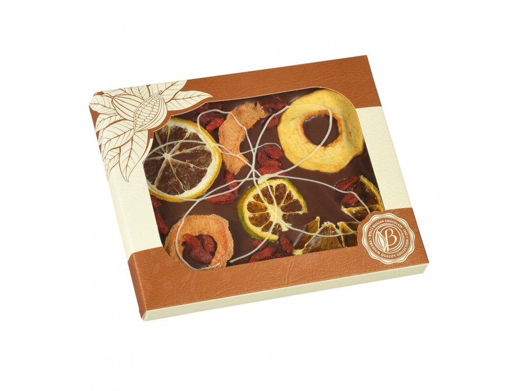 Bolci Mléčná čokoláda s pomerančem a ovocem 100g