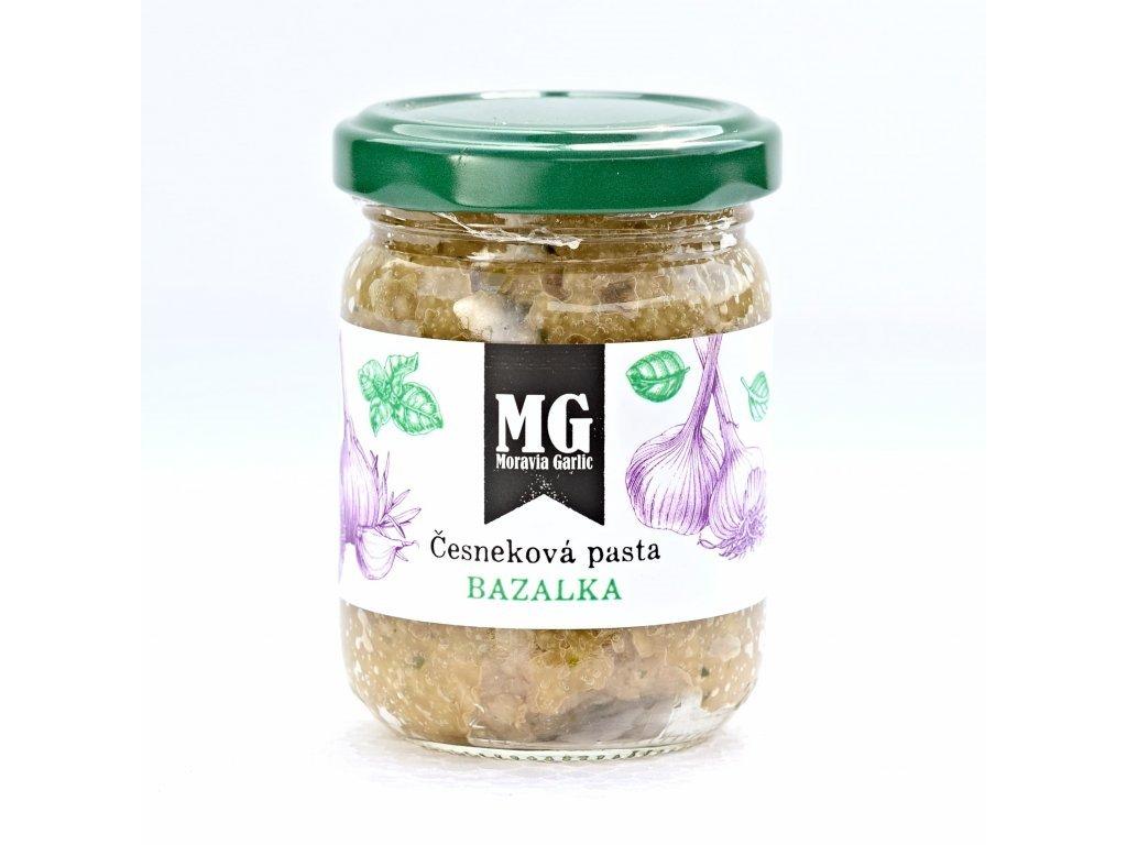 Česneková pasta s bazalkou 120g